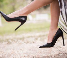 کفش پاشنه بلند ورنی زنانه